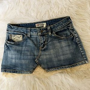 Skirts - Denim mini skirt women